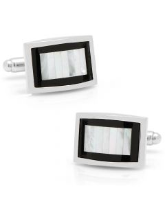 Onyx and Mother of Pearl Key Cufflinks