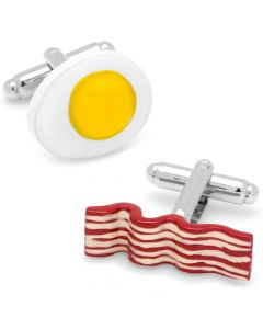 Bacon and Eggs Breakfast Cufflinks