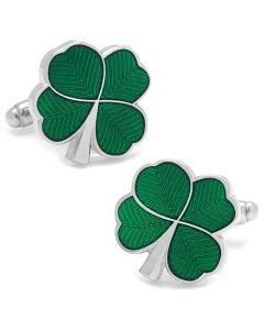 Green Clover Cufflinks