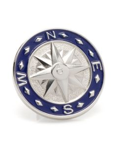 Blue Compass Lapel Pin