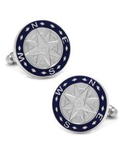 Blue Compass Cufflinks