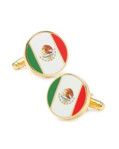 Mexico Flag Cufflinks
