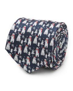 Polar Bear Blue Men's Tie