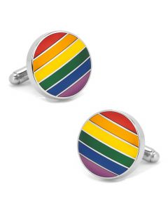 Rainbow Stripe Cufflinks