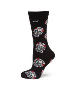 Sugar Skull Black Socks