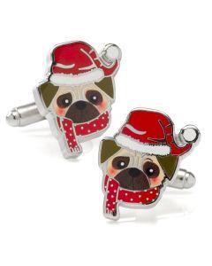 Santa Pug Cufflinks