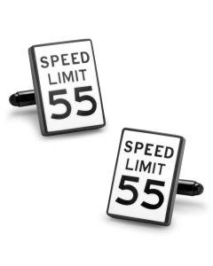 Speed Limit Sign Cufflinks