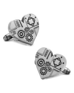 Steampunk Heart Cufflinks