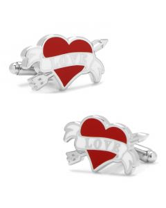 Tattoo Heart Cufflinks