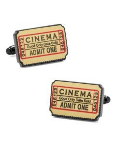 Cinema Ticket Cufflinks