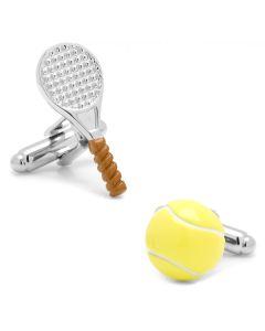 Tennis Ball and Racket Cufflinks