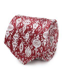 Christmas Wrap Red Men's Tie