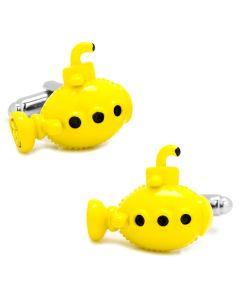3D Yellow Submarine Cufflinks