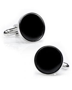 Silver and Onyx Cufflinks