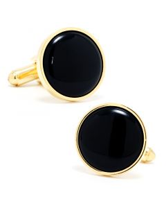 Gold and Onyx Cufflinks