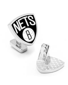 NBA Palladium Brooklyn Nets Cufflinks
