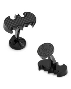 Stainless Steel Carbon Fiber Batman Cufflinks