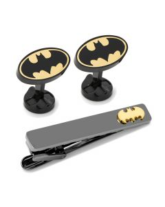 Batman Stainless Steel Cufflinks Tie Clip Gift Set