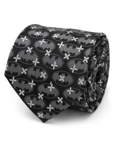 Batman Cross Black Silk Men's Tie