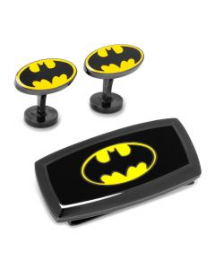 Batman Cufflinks and Cushion Money Clip Gift Set