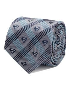 Superman Gray Plaid Tie