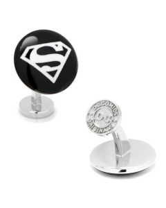 Superman Etched Onyx Cufflinks