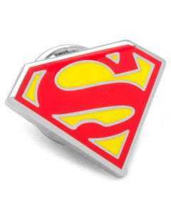 Enamel Superman Shield Lapel Pin