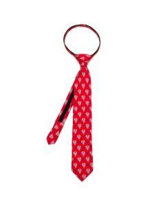 Beauty and the Beast Dot Red Boys' Zipper Silk Tie