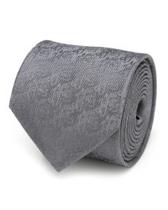 Jafar Writing Motif Gray Men's Tie