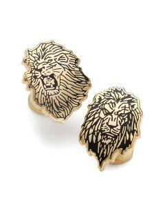 Lion King Pair Gold Cufflinks