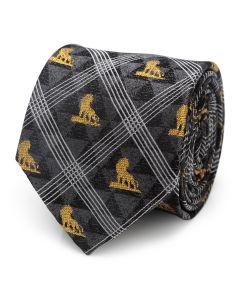 Lion King Pose Black Men's Tie