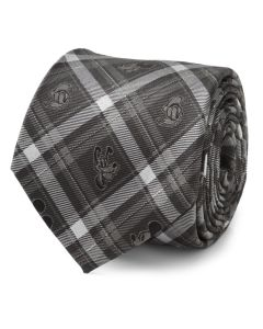 Mickey and Friends Charcoal Plaid Men's Tie