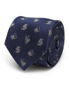 Mickey and Friends Blue Men's Tie