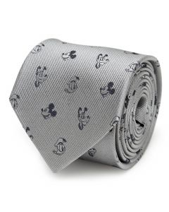 Mickey and Friends Gray Men's Tie