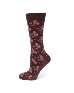 Mickey Dot Red Men's Socks