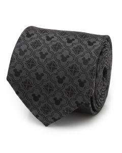 Mickey Mouse Pattern Black Men's Tie