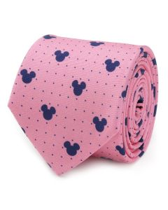 Mickey Mouse Dot Pink Men's Tie