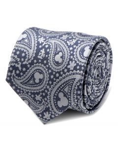 Mickey Mouse Gray Paisley Mens Tie