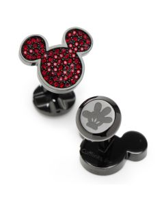 Mickey Mouse Maroon Crystal Cufflinks