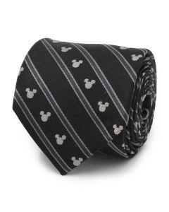 Mickey Mouse Stripe Black Men's Tie