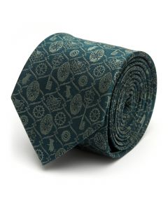 Green Nutcracker Icons Men's Tie