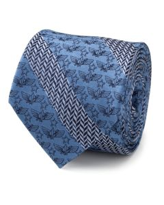 Toy Story Icon Herringbone Stripe Blue Men's Tie
