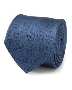 Winnie The Pooh Blue Tonal Men's Tie