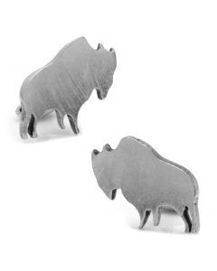 Pewter Buffalo Cufflinks