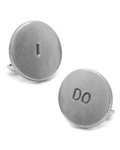 Pewter I DO Cufflinks