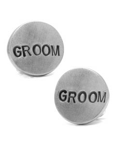 Pewter GROOM Cufflinks