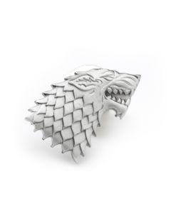 Stark Direwolf Antiqued Lapel Pin