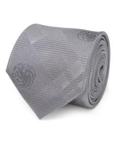 Targaryen Dragon Gray Plaid Silk Men's Tie
