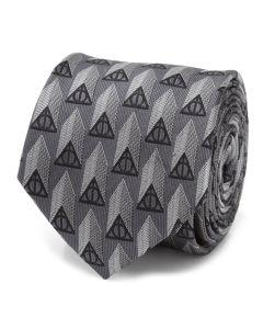 Deathly Hallows Gray Silk Men's Tie