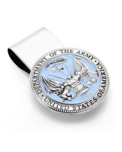 Pewter U.S. Army Money Clip